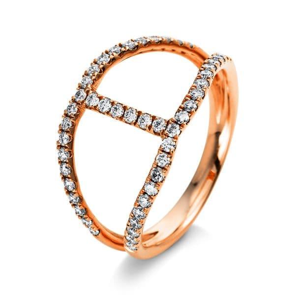 18 kt vörös arany több köves gyűrű 48 gyémánttal 1B414R853-1