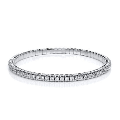 18 kt white gold bracelet with 65 diamonds 5A914W8-32
