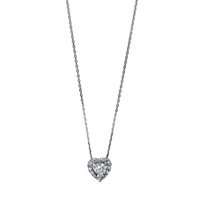 18 kt white gold necklace with 13 diamonds 4F263W8-2
