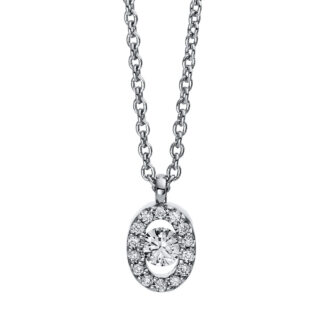 18 kt white gold necklace with 15 diamonds 4D382W8-2