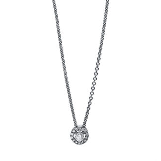 18 kt white gold necklace with 15 diamonds 4E528W8-1
