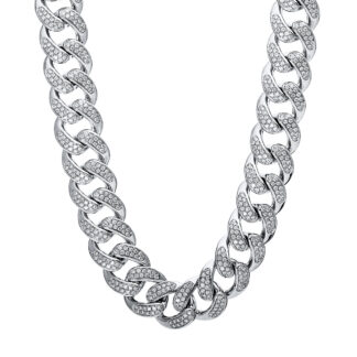 18 kt white gold necklace with 1769 diamonds 4E177W8-1