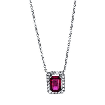 18 kt white gold necklace with 20 diamonds