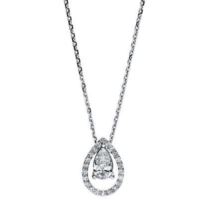 18 kt white gold necklace with 23 diamonds 4F688W8-1