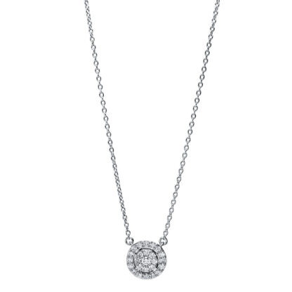 18 kt white gold necklace with 25 diamonds 4F789W8-1