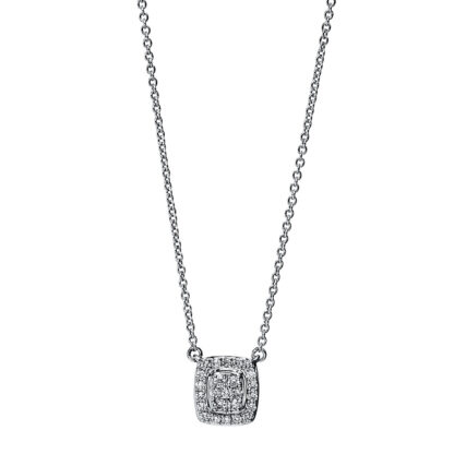 18 kt white gold necklace with 25 diamonds 4F792W8-1