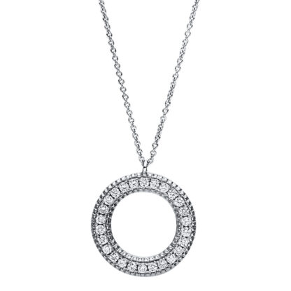 18 kt white gold necklace with 26 diamonds 4F414W8-2