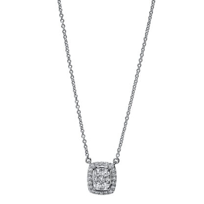 18 kt white gold necklace with 27 diamonds 4F793W8-1