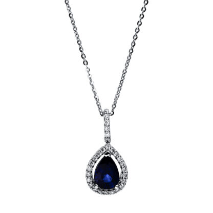 18 kt white gold necklace with 28 diamonds