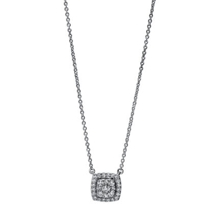 18 kt white gold necklace with 29 diamonds 4F787W8-1