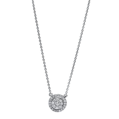 18 kt white gold necklace with 29 diamonds 4F790W8-1