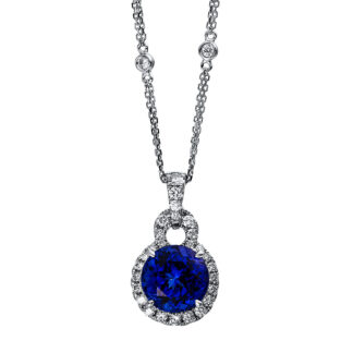 18 kt white gold necklace with 31 diamonds