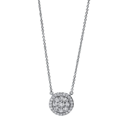18 kt white gold necklace with 31 diamonds 4F791W8-1
