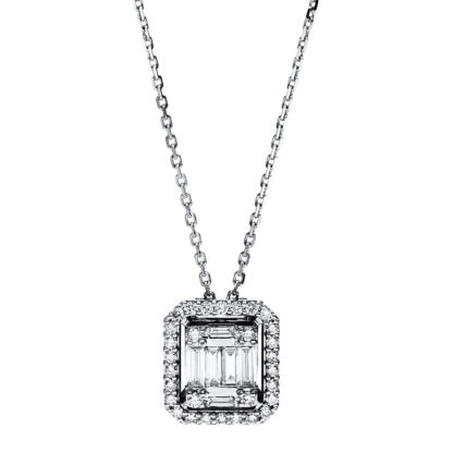18 kt white gold necklace with 36 diamonds 4F588W8-1