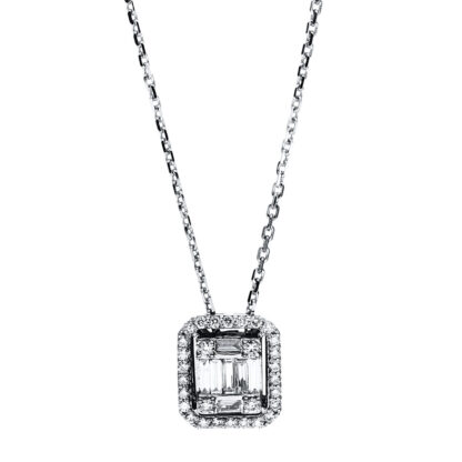 18 kt white gold necklace with 37 diamonds 4F587W8-1