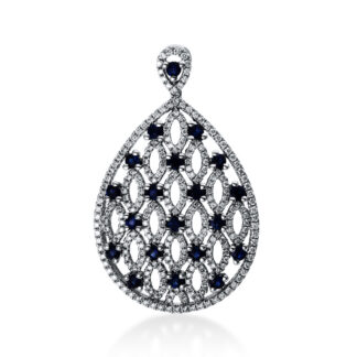 18 kt white gold pendant with 268 diamonds
