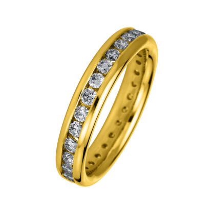 18 kt yellow gold multi stone with 29 diamonds 1A577G855-1