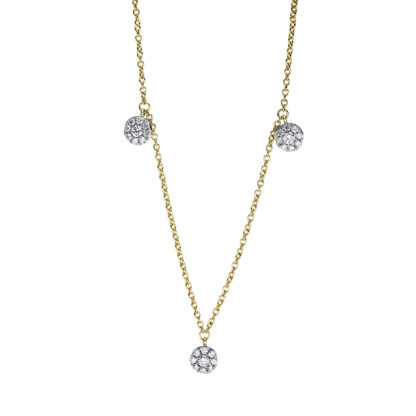 18 kt yellow gold necklace with 15 diamonds 4F669G8-1