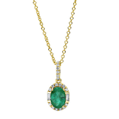 18 kt yellow gold necklace with 20 diamonds