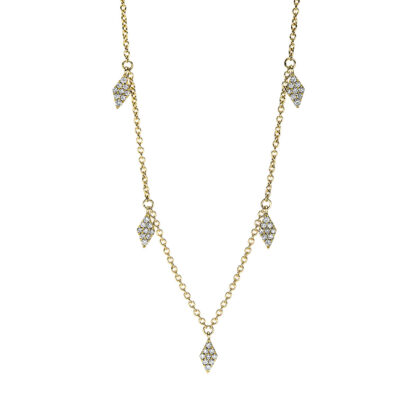 18 kt yellow gold necklace with 45 diamonds 4F639G8-1