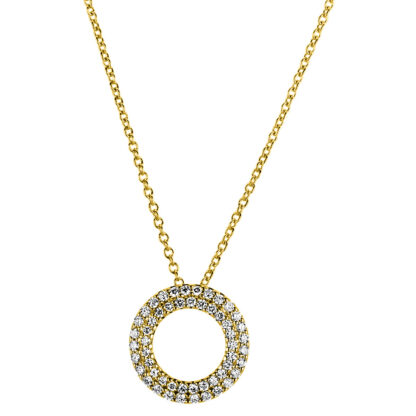 18 kt yellow gold necklace with 53 diamonds 4A764G8-4