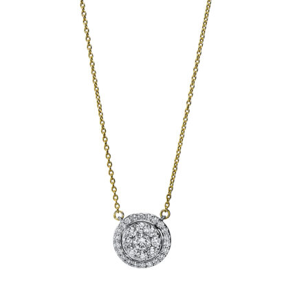18 kt yellow gold / white gold necklace with 31 diamonds 4F791GW8-1