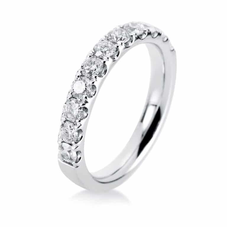 14 kt fehérarany félig köves eternity 11 gyémánttal 1D829W454-1