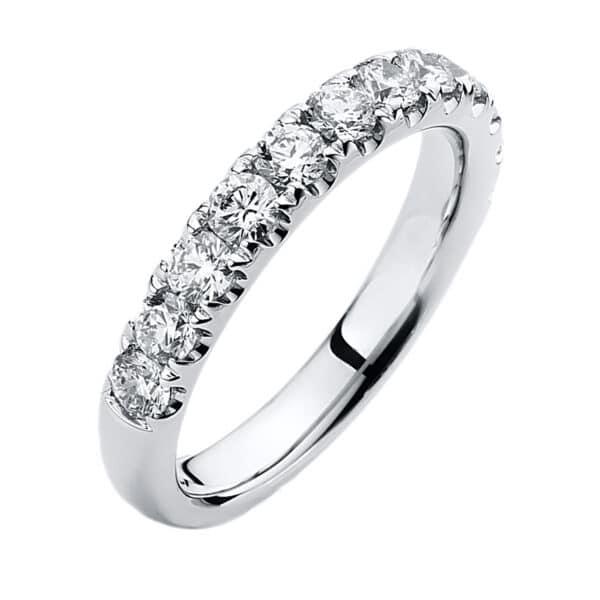 14 kt fehérarany félig köves eternity 12 gyémánttal 1B761W454-1
