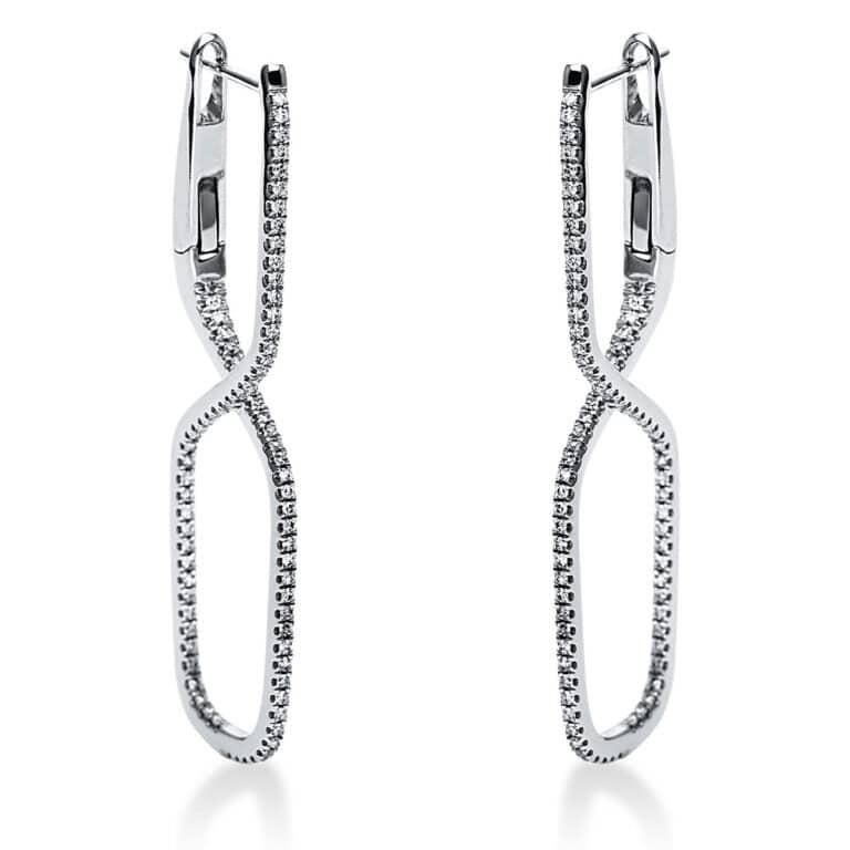 14 kt fehérarany fülbevaló 164 gyémánttal 2J625W4-1