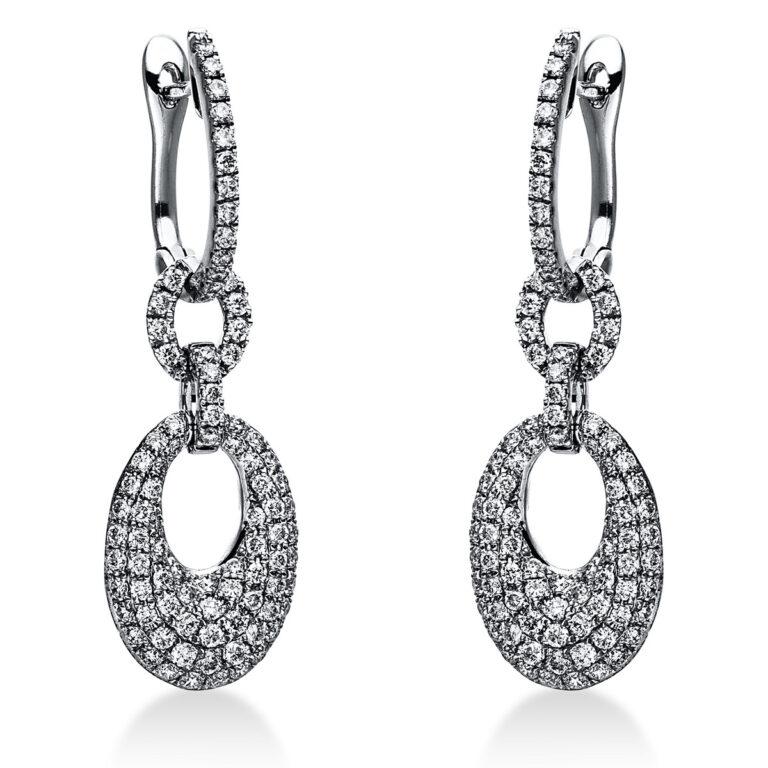 14 kt fehérarany fülbevaló 180 gyémánttal 2J613W4-1