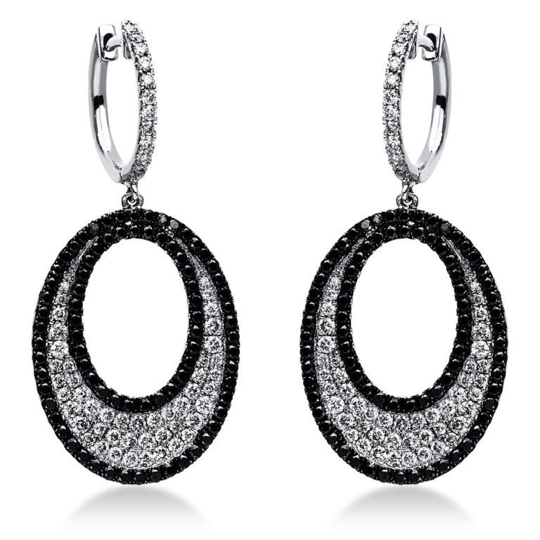 14 kt fehérarany fülbevaló 274 gyémánttal 2J517W4-1
