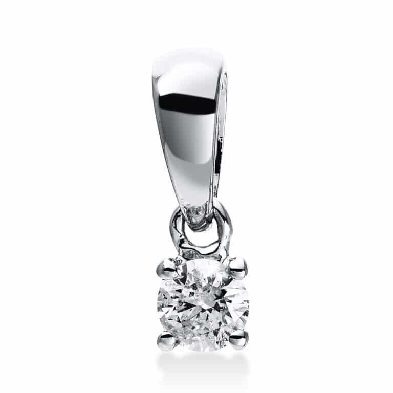 14 kt fehérarany medál 1 gyémánttal 3E070W4-1