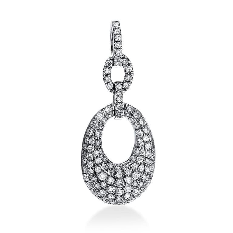 14 kt fehérarany medál 108 gyémánttal 3E068W4-1