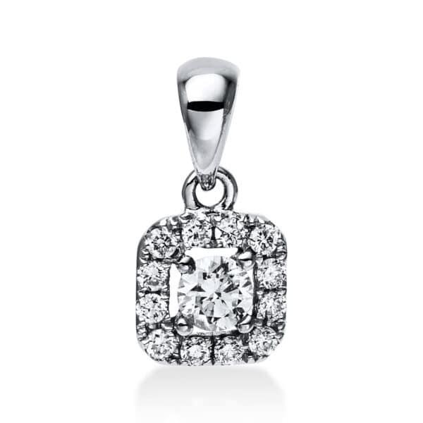 14 kt fehérarany medál 13 gyémánttal 3E055W4-1
