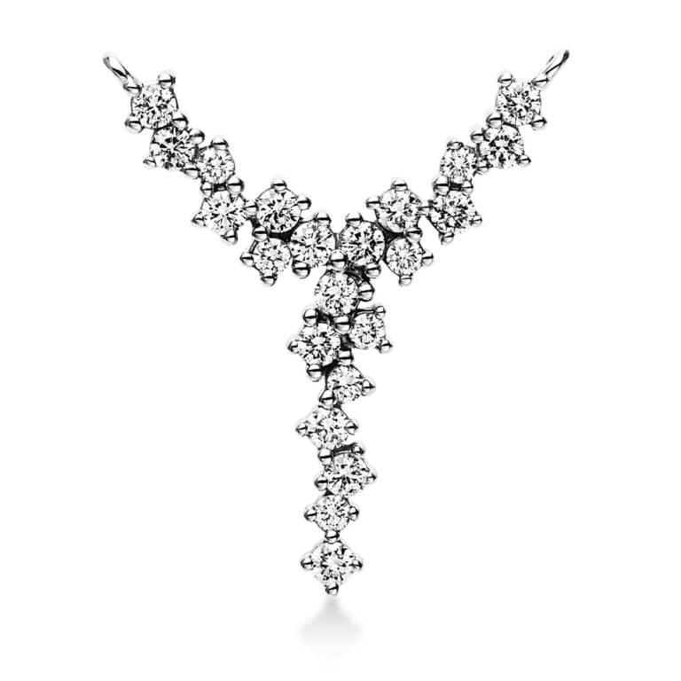 14 kt fehérarany medál 22 gyémánttal 3E054W4-1