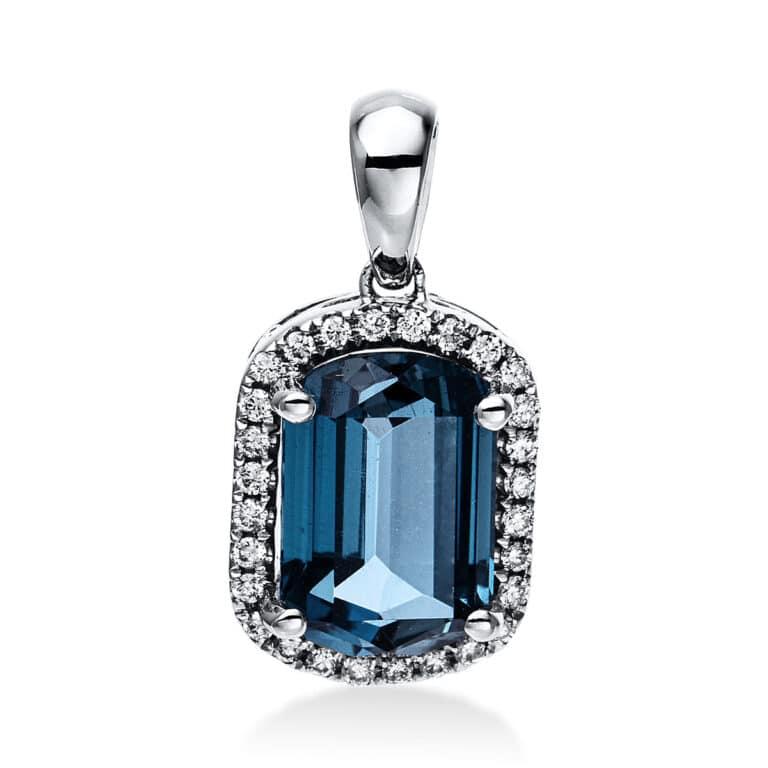 14 kt fehérarany medál 28 gyémánttal