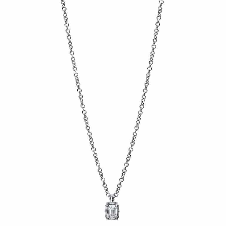 14 kt fehérarany nyaklánc 1 gyémánttal 4E439W4-1