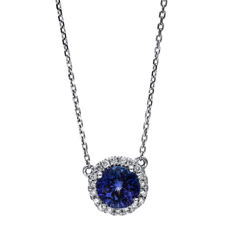 14 kt fehérarany nyaklánc 19 gyémánttal