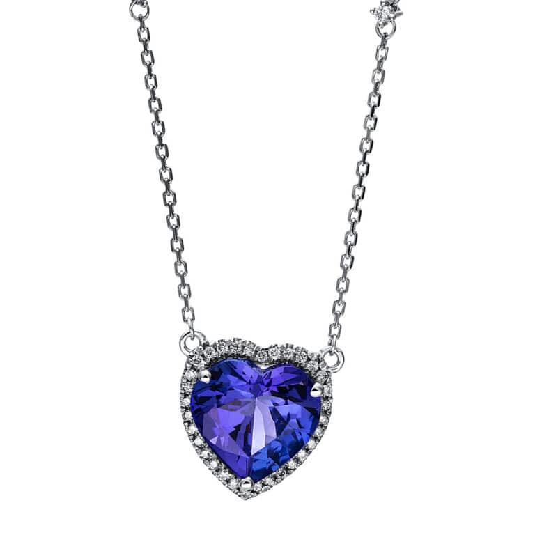 14 kt fehérarany nyaklánc 34 gyémánttal