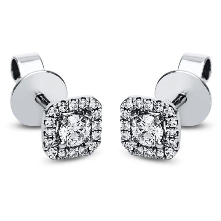 14 kt fehérarany steckeres 34 gyémánttal 2J577W4-1