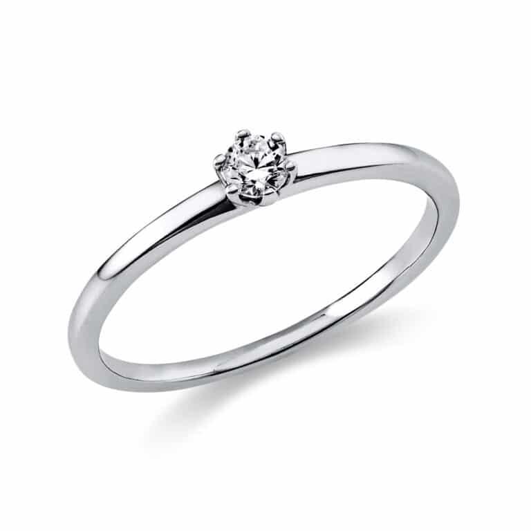14 kt fehérarany szoliter 1 gyémánttal 1O321W454-8