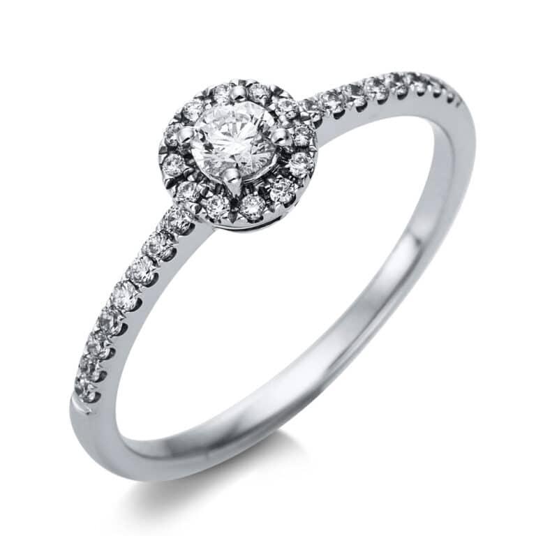 14 kt fehérarany szoliter oldalkövekkel 29 gyémánttal 1T466W454-3