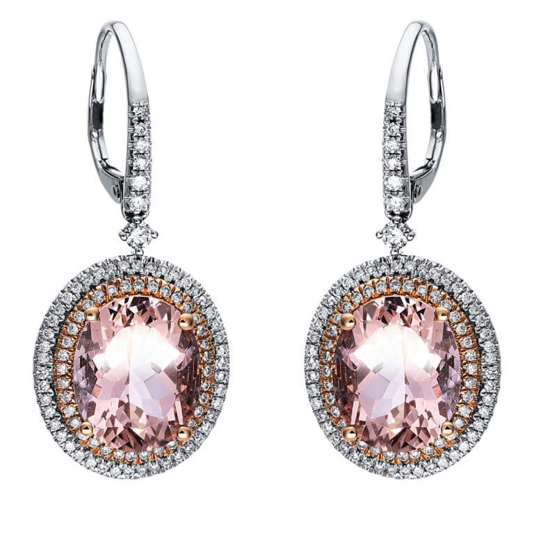14 kt  fülbevaló 178 gyémánttal