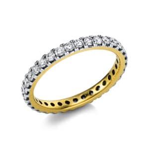 14 kt sárga arany / fehérarany körbe köves eternity 37 gyémánttal 1V556GW454-1