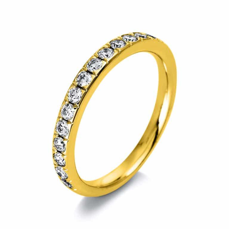 14 kt sárga arany félig köves eternity 16 gyémánttal 1P937G454-1