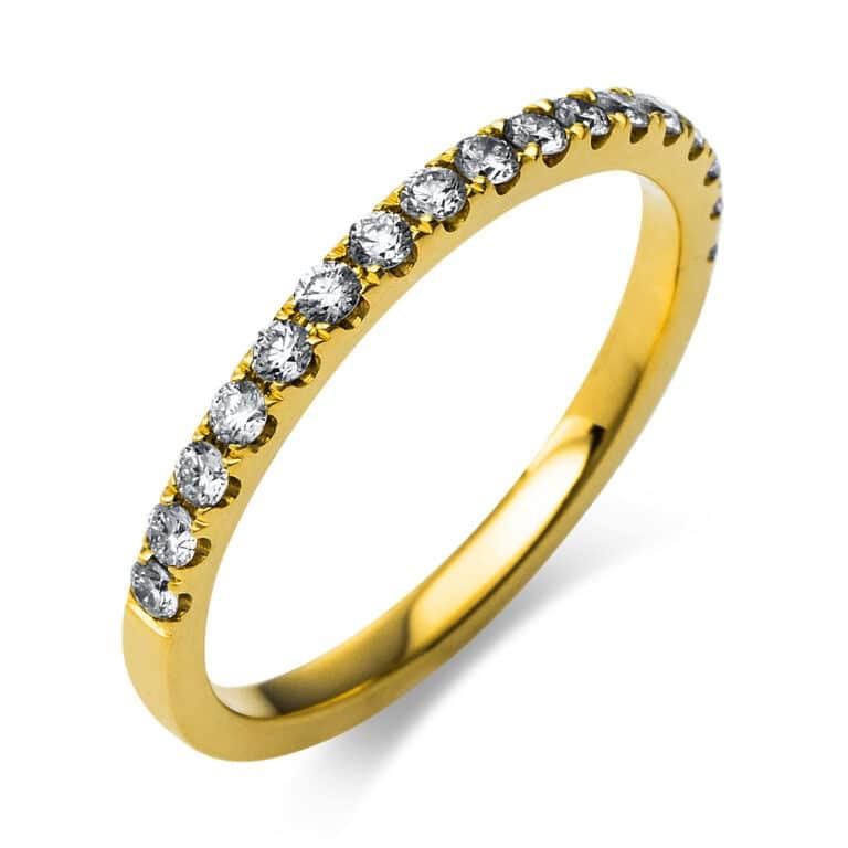 14 kt sárga arany félig köves eternity 18 gyémánttal 1R380G456-1