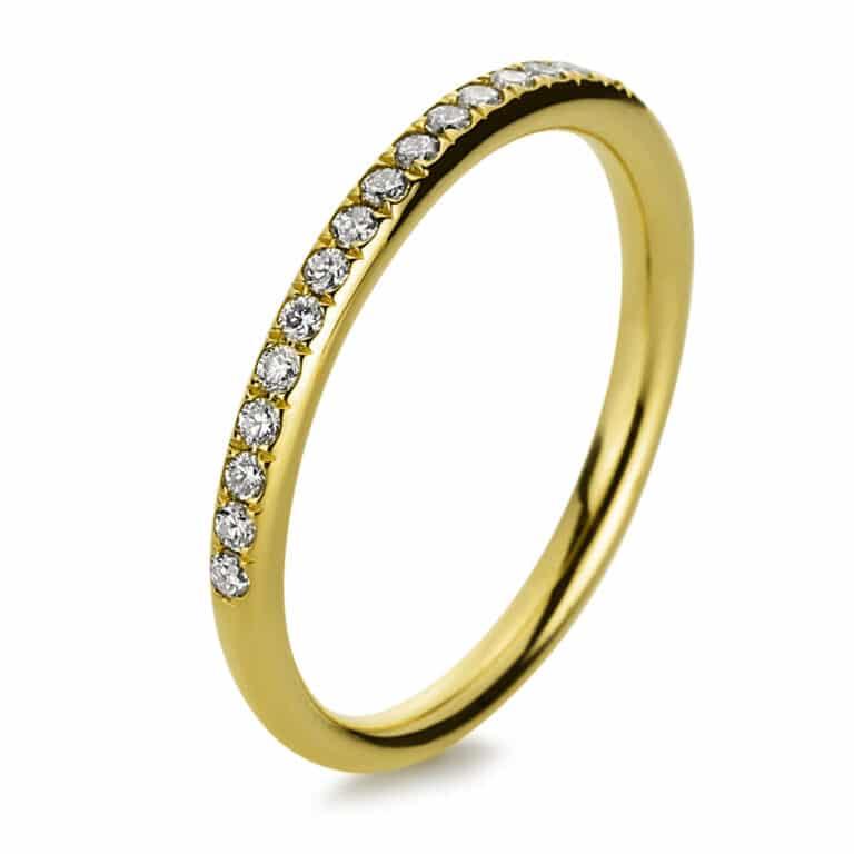 14 kt sárga arany félig köves eternity 21 gyémánttal 1B818G460-1