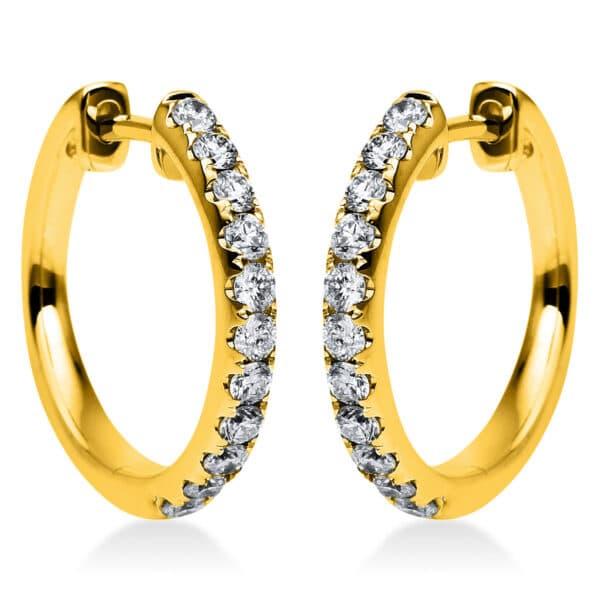 14 kt sárga arany karika és huggie 22 gyémánttal 2G831G4-4