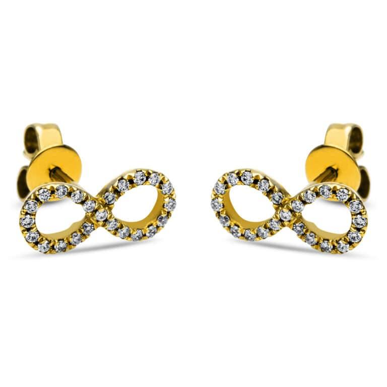 14 kt sárga arany steckeres 46 gyémánttal 2I704G4-2