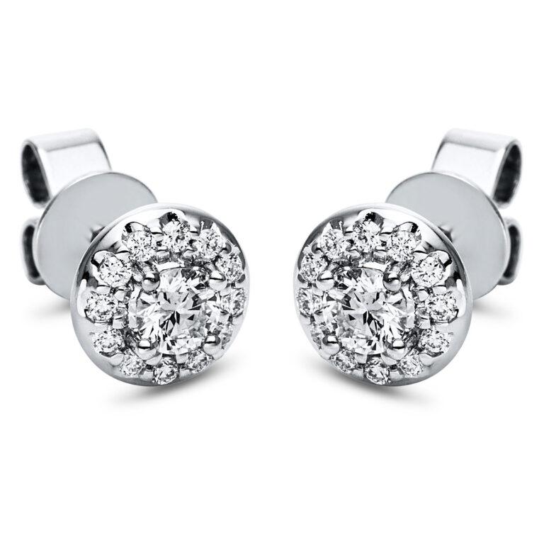 18 kt fehérarany fülbevaló 26 gyémánttal 2J609W8-1